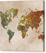 World Map Oriental Canvas Print