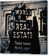 World Real Estate Chicago Canvas Print