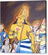 World Renowned Ajanta Painting  Canvas Print
