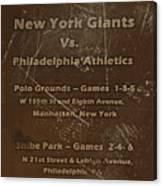 World Series 1913 Canvas Print