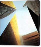 World Trade Center Towers And The Ideogram 1971-2001 Canvas Print