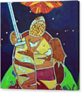 World Turtle King Of Swords Canvas Print