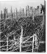 World War I Barbed Wire Canvas Print