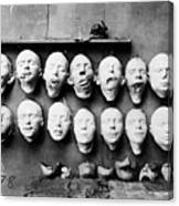 World War I Masks, 1918 - To License For Professional Use Visit Granger.com Canvas Print
