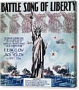World War I: Song Sheet Canvas Print