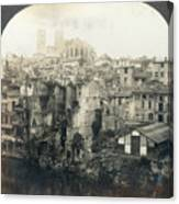 World War I: Verdun Ruins Canvas Print