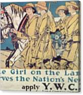 World War I Ywca Poster  Canvas Print