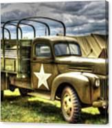 World War II Army Truck Canvas Print