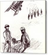 World War One Sketch No. 2 Canvas Print