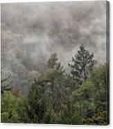 Worlds End State Park Fog Canvas Print