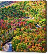 Worlds End State Park Lookout 3 - Paint Canvas Print
