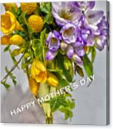 World's Greatest Mom Mother's Day Card Canvas Print