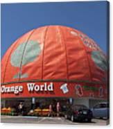 World's Largest Orange Canvas Print