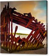 Worn Rusting Shipwreck Canvas Print