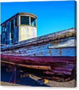 Worn Weathered Boat Canvas Print