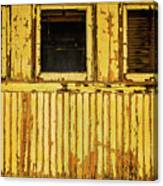 Worn Yellow Passanger Car Canvas Print