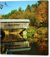 Worrall's Bridge Vermont - New England Fall Landscape Covered Bridge Canvas Print