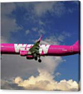 Wow Air Airbus A321-211 Canvas Print