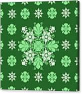 Wrapping Wallpaper Floral Seamless Tile For Website Vector, Repeating Foliage Outline Floral Western Canvas Print