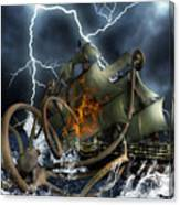Wrath Of Kraken Canvas Print
