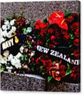 Wreaths From New Zealand And Our Navy Canvas Print