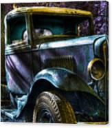 Wrecking Yard Fantasy Canvas Print