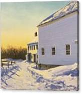 Wright-locke Farm And Squash House Canvas Print