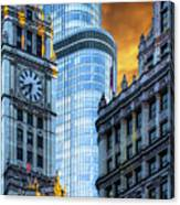 Wrigley Building And Trump Tower Dsc0540 Canvas Print