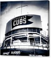 Wrigley Field Bleachers In Black And White Canvas Print