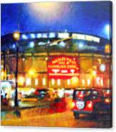 Wrigley Field Home Of Chicago Cubs Canvas Print