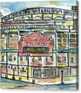 Wrigley Field Canvas Print
