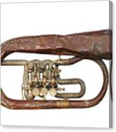 Wrinkled Old Trumpet Canvas Print