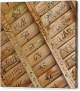 Writings On Wood Canvas Print