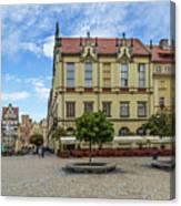Wroclaw Market Square, New Town Hall And Tenement Houses Canvas Print