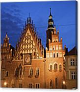 Wroclaw Old Town Hall At Night Canvas Print