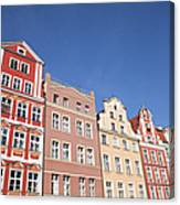 Wroclaw Old Town Houses Canvas Print
