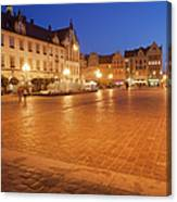 Wroclaw Old Town Market Square At Night Canvas Print