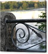 Wrought Iron At Niagara Falls Canvas Print