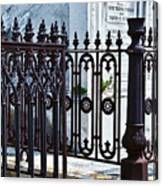 Wrought Iron Cemetery Fence Canvas Print
