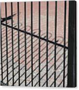 Wrought-iron Gate And Shadows Canvas Print