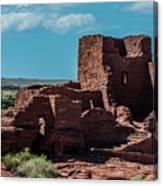 Wukoki Pueblo Ruins Wupatki National Monument Canvas Print