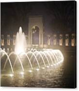 Ww 2 Memorial Fountain Canvas Print