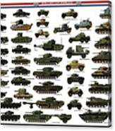 Ww2 British Tanks Canvas Print