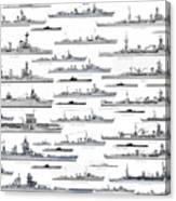 ww2 French Navy Canvas Print