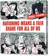 Ww2 Rationing Cartoon Canvas Print