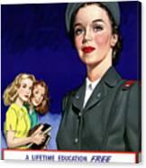 Ww2 Us Cadet Nurse Corps Canvas Print