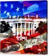 Ww2 Usa White House Canvas Print
