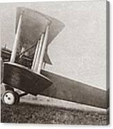 Wwi: British Bomber Canvas Print