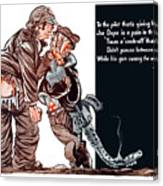 Wwii Joe Dope Cartoon Canvas Print