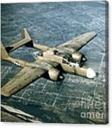 Wwii, Northrop P-61 Black Widow, 1940s Canvas Print